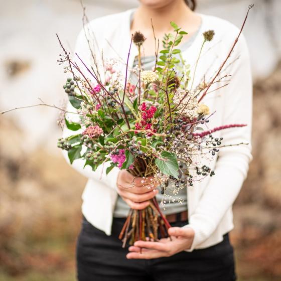 Kytice z lasky valentyn Kytkyodpotoka - Zimní kytice pro radost od ucha k uchu - Kytky od potoka