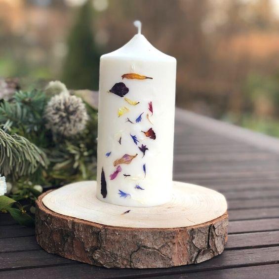 4 3 - Přírodní svíčka z rostlinného vosku - Kytky od potoka