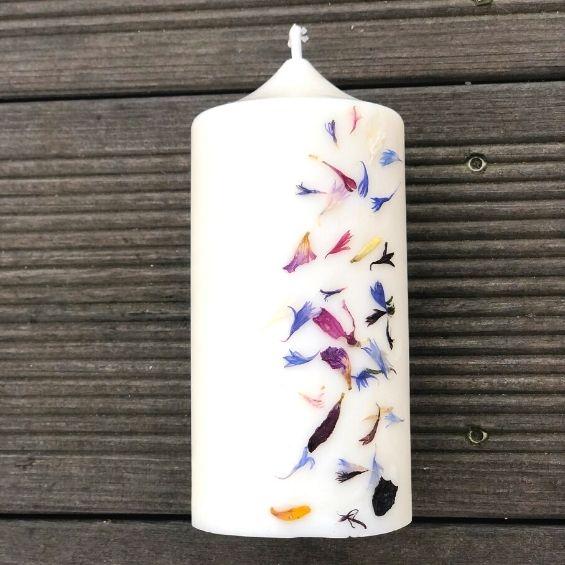 5 3 - Přírodní svíčka z rostlinného vosku - Kytky od potoka