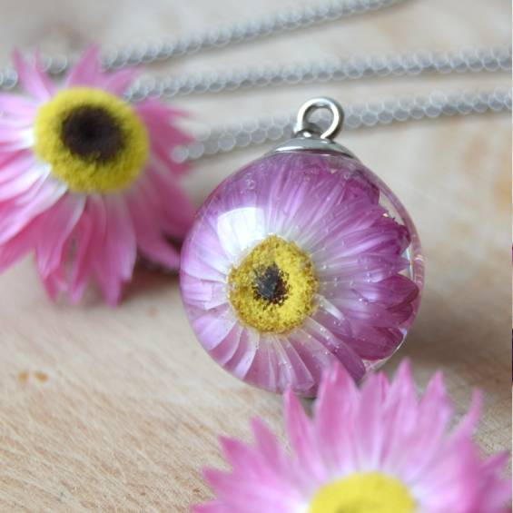 nahradelnik velky smilek - Květinový náhrdelník - Kytky od potoka