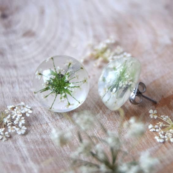 pecky mirik - Květinové náušnice pecky - Kytky od potoka