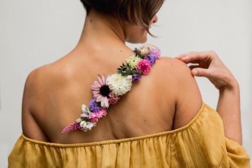 svatební květinové tetování