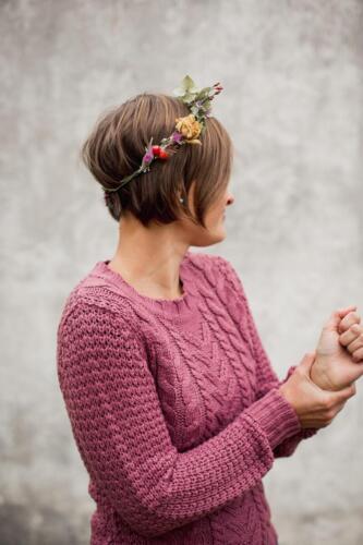říjen svatba ozdoba do vlasů květinový fascinátor