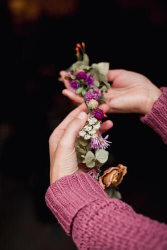 říjnová svatba věneček podzimní