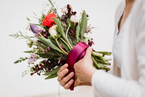 tulipánová svatební kytice