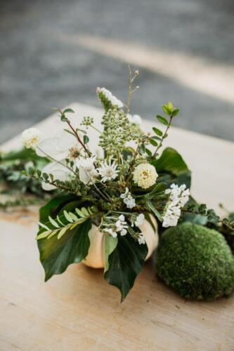 podzimní svatba výzdoba stolu
