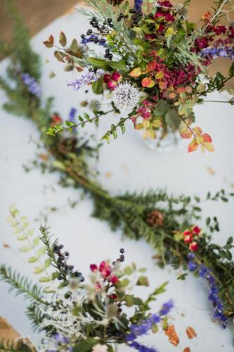 svatba v zimě výzdoba stolu