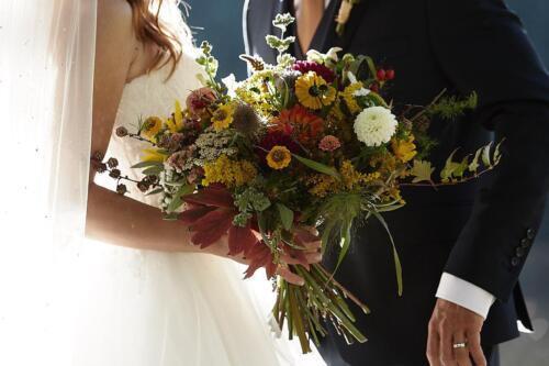 svatebni kytice podzimní říjen svatba na podzim