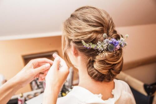 letni svatba květinová ozdoba do vlasů