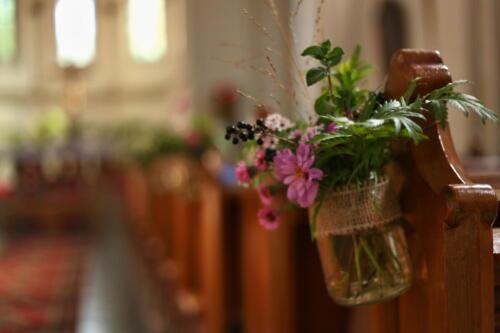 podzimní svatba výzdoba kostela