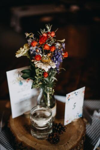 svatba v létě ozdoba stolu