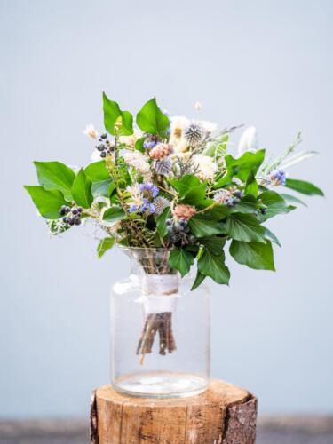 zimní svatba svatební kytice v zimě