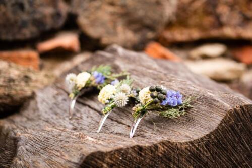 korsáž zimní svatba