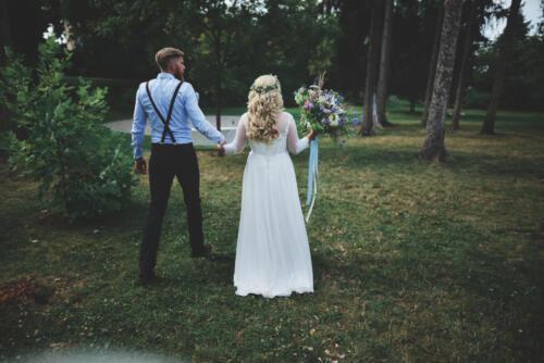 letní svatba svatební kytice