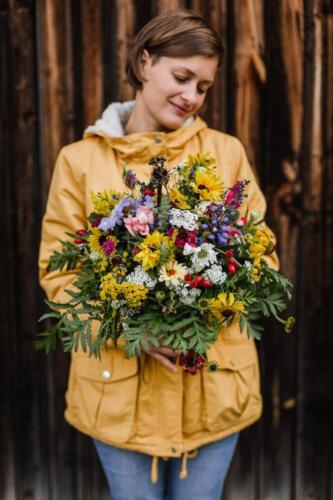 Pestrá podzimní svatba Kytky od potoka