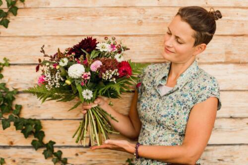 Říjnová svatební kytice Kytky od potoka