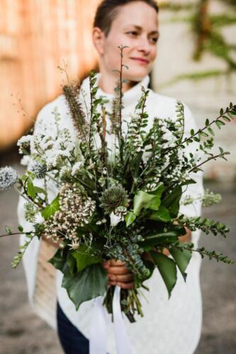 Zimní svatba Kytky od potoka