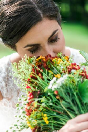 Kytky od potoka svatby